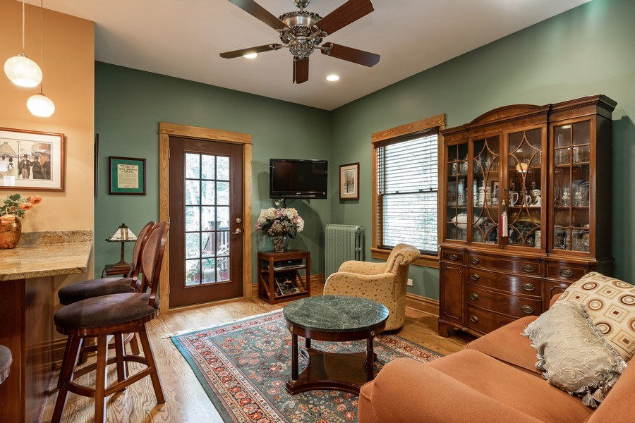 Real Estate Photography - 103 Pine Ave, Riverside, IL, 60546 - Family Room