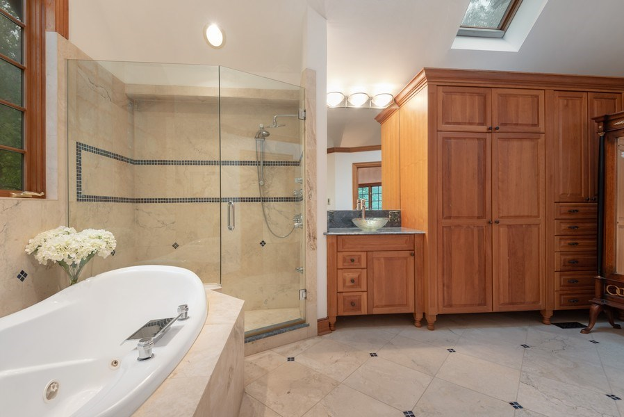 Real Estate Photography - 305 Central Ave, Wilmette, IL, 60091 - Master Bathroom