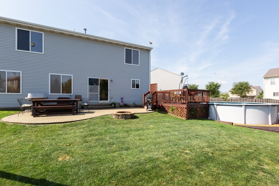 Real Estate Photography - 3508 Ironwood Ct, Joliet, IL, 60435 - Rear View