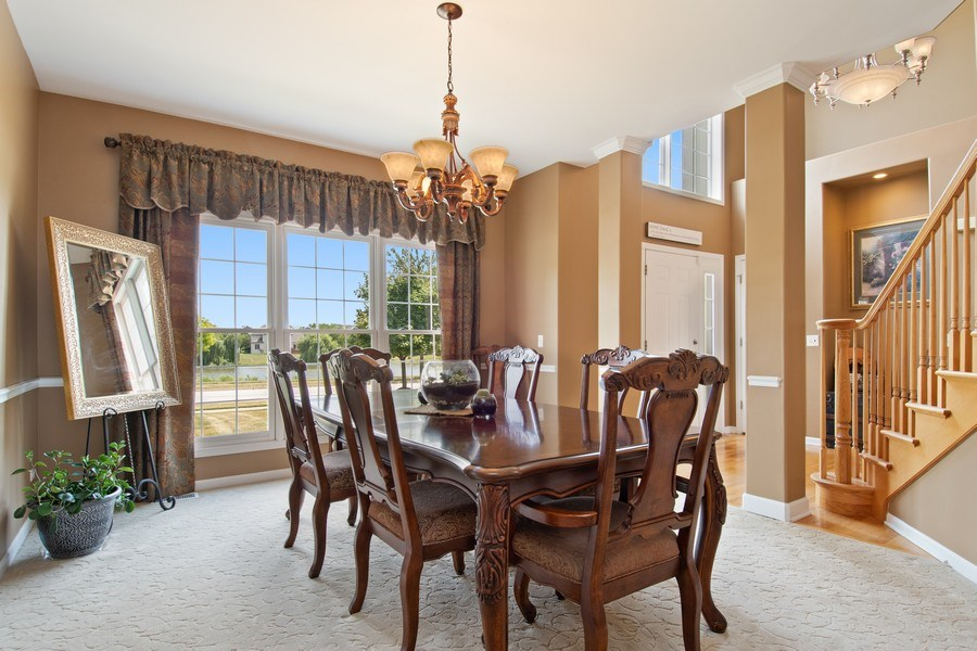 Real Estate Photography - 502 Mallard Point Dr, North Aurora, IL, 60542 - Dining Room