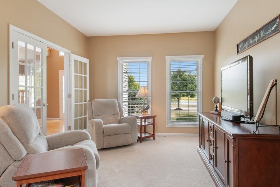 Real Estate Photography - 502 Mallard Point Dr, North Aurora, IL, 60542 - Den