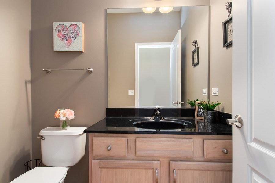 Real Estate Photography - 502 Mallard Point Dr, North Aurora, IL, 60542 - Half Bath