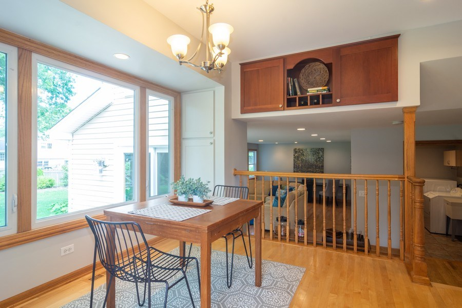 Real Estate Photography - 3039 North Huntington Dr, Arlington Heights, IL, 60004 - Kitchen eating area overlooks amazing Family Rm