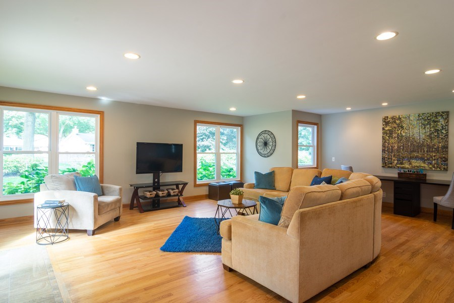 Real Estate Photography - 3039 North Huntington Dr, Arlington Heights, IL, 60004 - Addition created this expansive Family Room