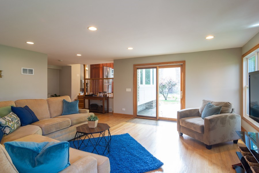 Real Estate Photography - 3039 North Huntington Dr, Arlington Heights, IL, 60004 - Family Room w/easy access to patio & yard