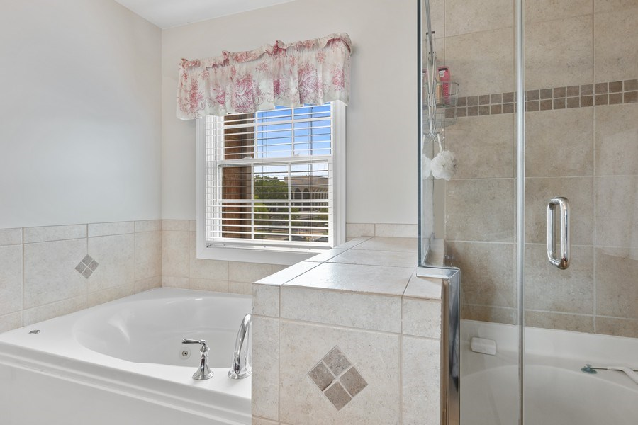 Real Estate Photography - 1719 Dewes St, Glenview, IL, 60025 - Master Bathroom