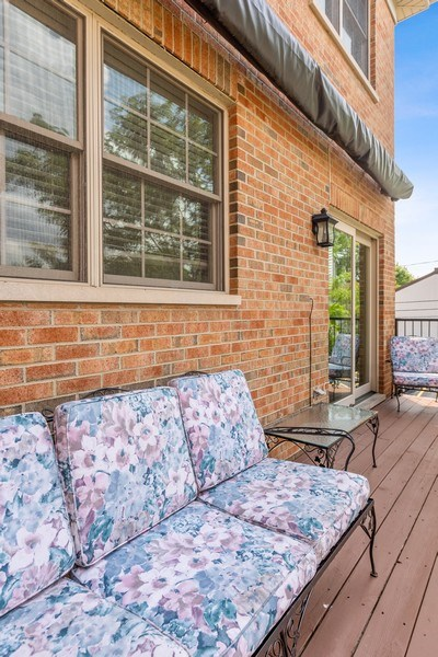 Real Estate Photography - 1719 Dewes St, Glenview, IL, 60025 - Deck