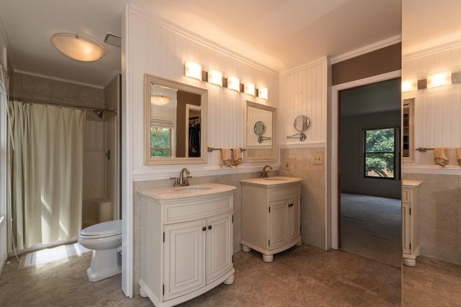 Real Estate Photography - 617 Maves Dr, Batavia, IL, 60510 - Master Bathroom