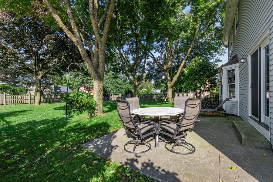 Real Estate Photography - 914 Monticello Dr, Naperville, IL, 60563 - Relax on the patio