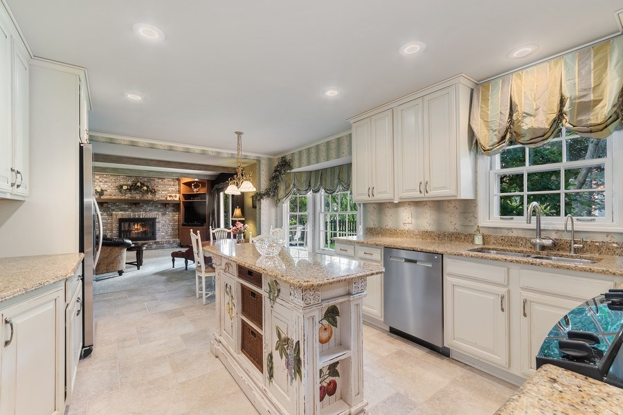Real Estate Photography - 914 Monticello Dr, Naperville, IL, 60563 - Custom remodeled kitchen