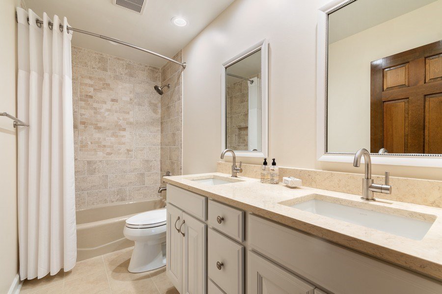 Real Estate Photography - 914 Monticello Dr, Naperville, IL, 60563 - 2nd Bathroom