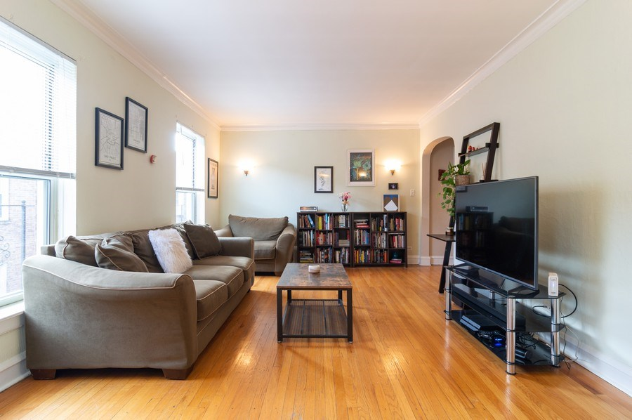 Real Estate Photography - 4130 North Kedvale Ave, 308, Chicago, IL, 60641 - Living Room