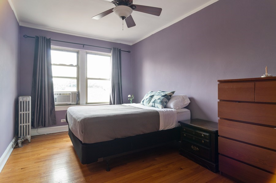 Real Estate Photography - 4130 North Kedvale Ave, 308, Chicago, IL, 60641 - Master Bedroom