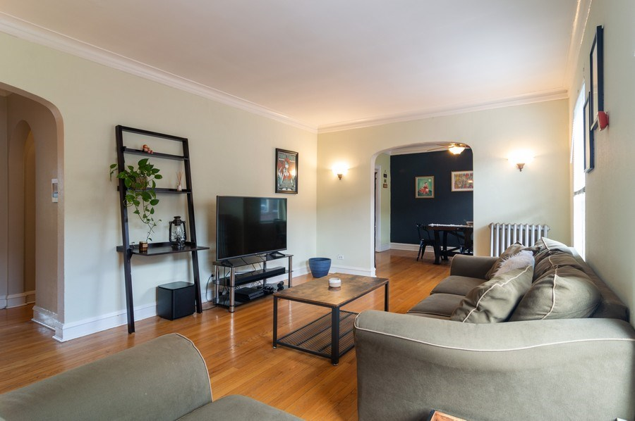 Real Estate Photography - 4130 North Kedvale Ave, 308, Chicago, IL, 60641 - Living Room/Dining Room