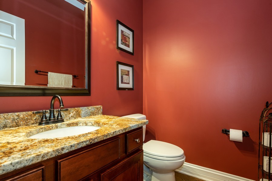 Real Estate Photography - 3320 Thunderbird Ln, Prairie Grove, IL, 60012 - Powder Room