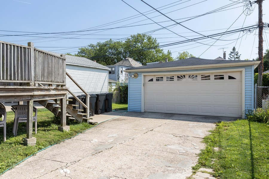 Real Estate Photography - 4865 West Addison St, Chicago, IL, 60641 - Garage