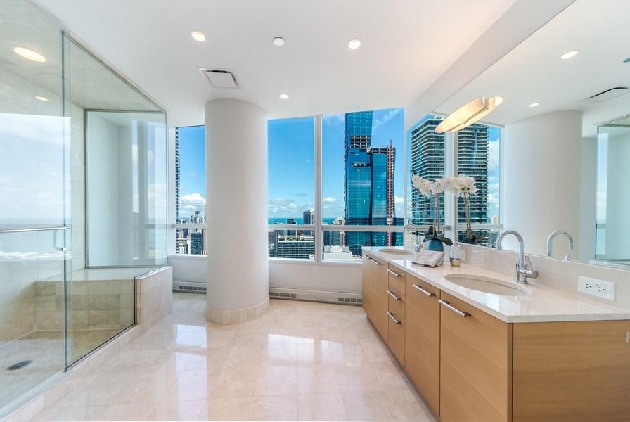 Real Estate Photography - 340 E Randolph St, Unit 5401, Chicago, IL, 60601 - Master Bathroom