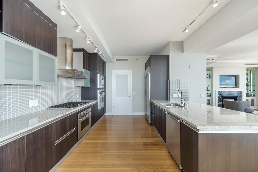 Real Estate Photography - 340 E Randolph St, Unit 5401, Chicago, IL, 60601 - Kitchen