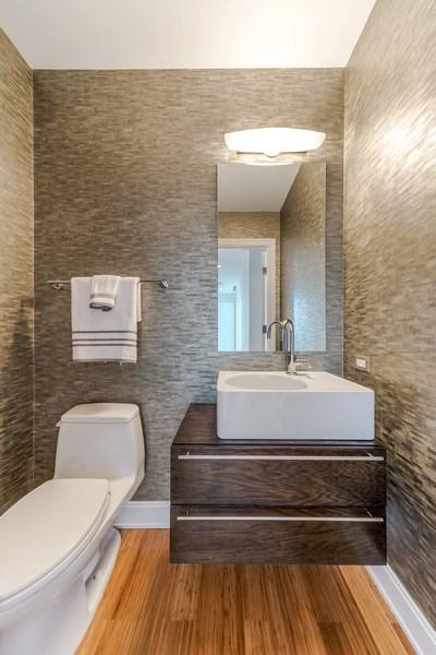 Real Estate Photography - 340 E Randolph St, Unit 5401, Chicago, IL, 60601 - Half Bath