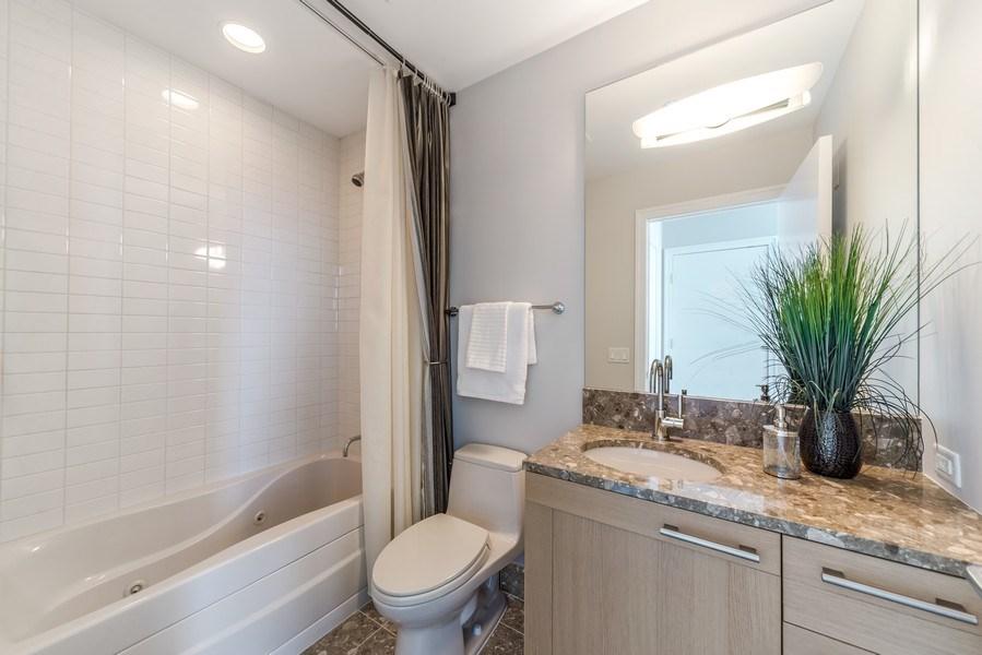 Real Estate Photography - 340 E Randolph St, Unit 5401, Chicago, IL, 60601 - 2nd Bathroom