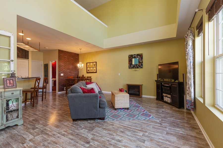 Real Estate Photography - 1890 Sebastian Dr, 0, Woodstock, IL, 60098 - LIVING ROOM--Wide open floor plan!