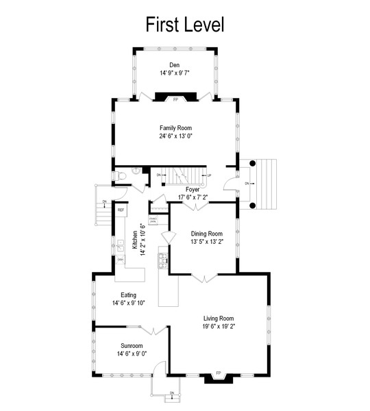 Real Estate Photography - 534 Forest Ave, Glen Ellyn, IL, 60137 - Floor Plan