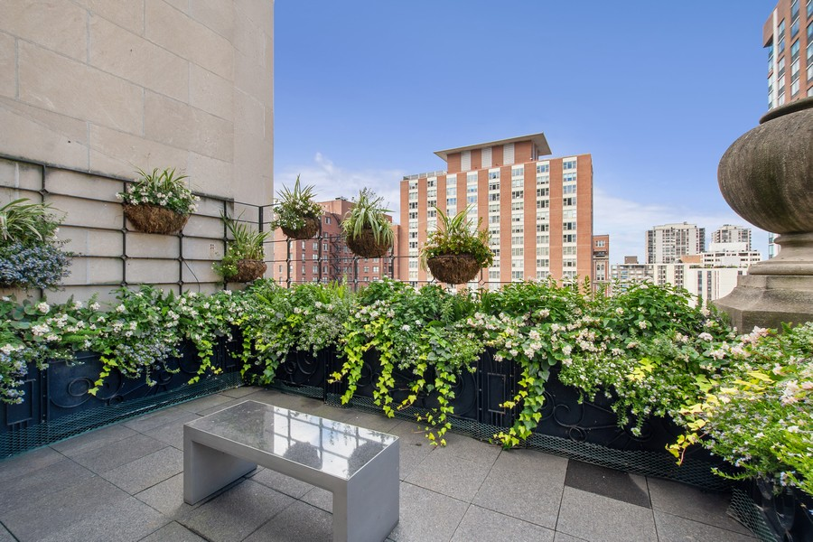 Real Estate Photography - 1325 North Astor St, 13, Chicago, IL, 60610 - Terrace