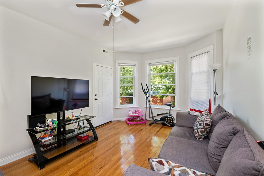 Real Estate Photography - 4237 West School St, Chicago, IL, 60641 - Living Room