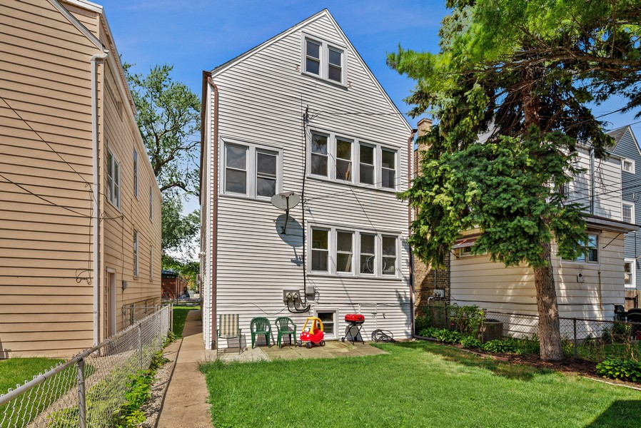 Real Estate Photography - 4237 West School St, Chicago, IL, 60641 - Rear View