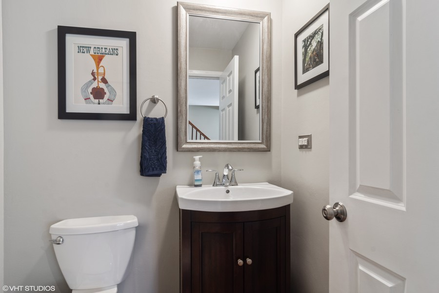 Real Estate Photography - 702 East Hackberry Dr, Arlington Heights, IL, 60004 - Powder Room