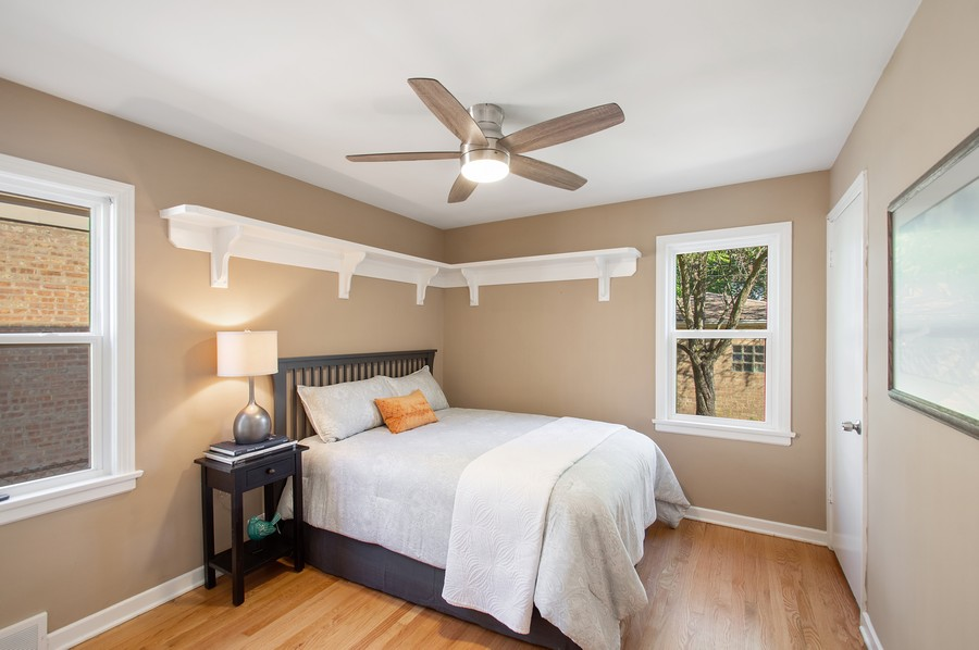 Real Estate Photography - 217 Hartrey Ave, Evanston, IL, 60202 - 3rd Bedroom