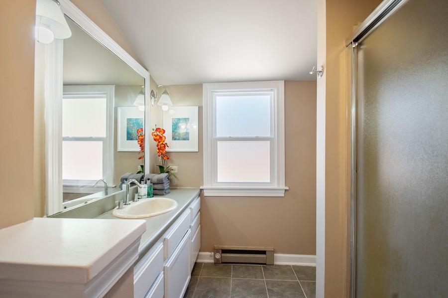 Real Estate Photography - 217 Hartrey Ave, Evanston, IL, 60202 - Master Bathroom
