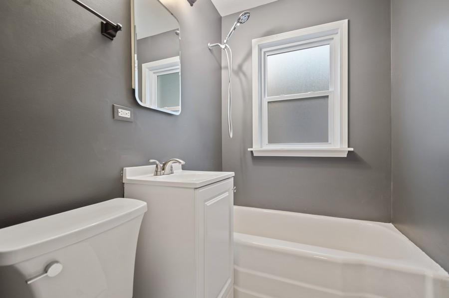 Real Estate Photography - 217 Hartrey Ave, Evanston, IL, 60202 - 2nd Bathroom