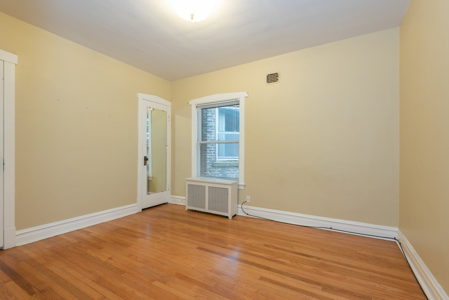 Real Estate Photography - 4820 West Oakdale Ave, Chicago, IL, 60641 - Bedroom 2, access to the attic