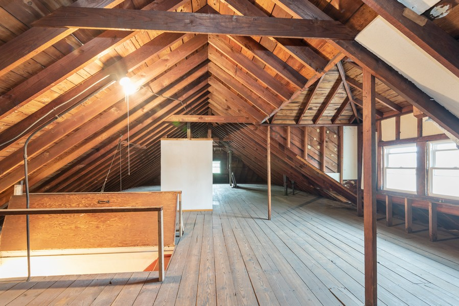 Real Estate Photography - 4820 West Oakdale Ave, Chicago, IL, 60641 - Attic, view 2