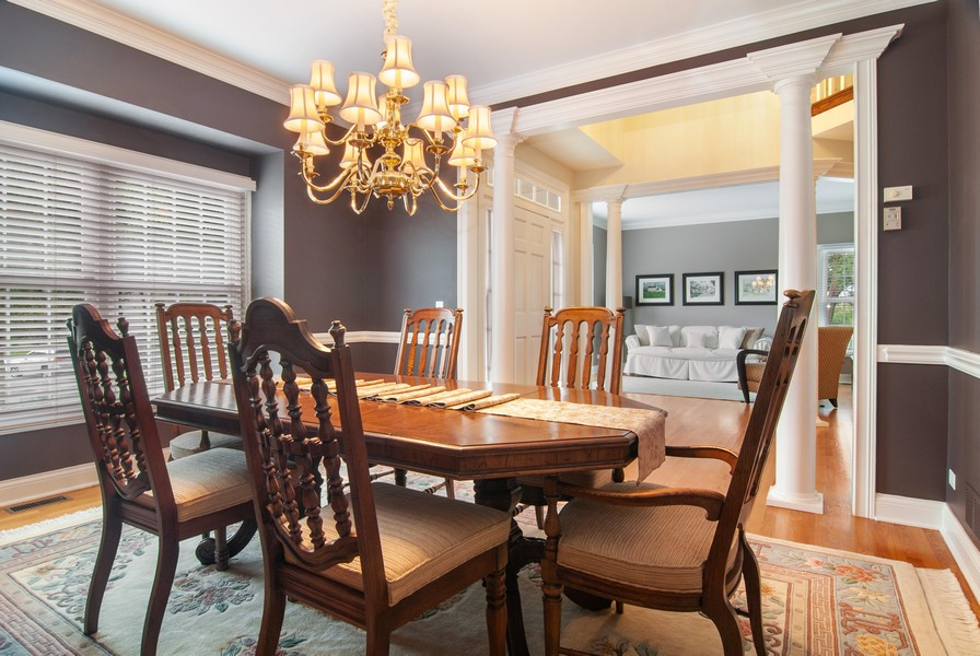 Real Estate Photography - 2306 Brookwood Ct, Aurora, IL, 60502 - Dining Room