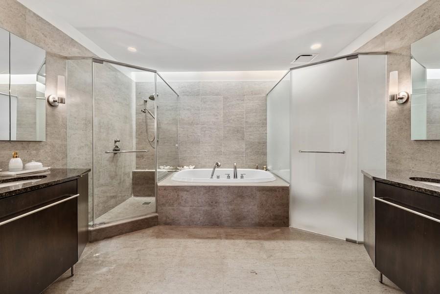 Real Estate Photography - 401 N Wabash, Unit 53E, Chicago, IL, 60611 - Master Bathroom