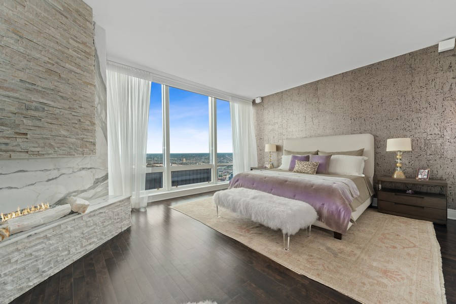 Real Estate Photography - 401 N Wabash, Unit 53E, Chicago, IL, 60611 - Master Bedroom