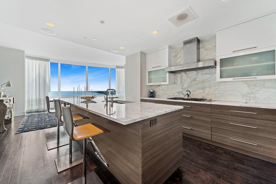 Real Estate Photography - 401 N Wabash, Unit 53E, Chicago, IL, 60611 - Kitchen