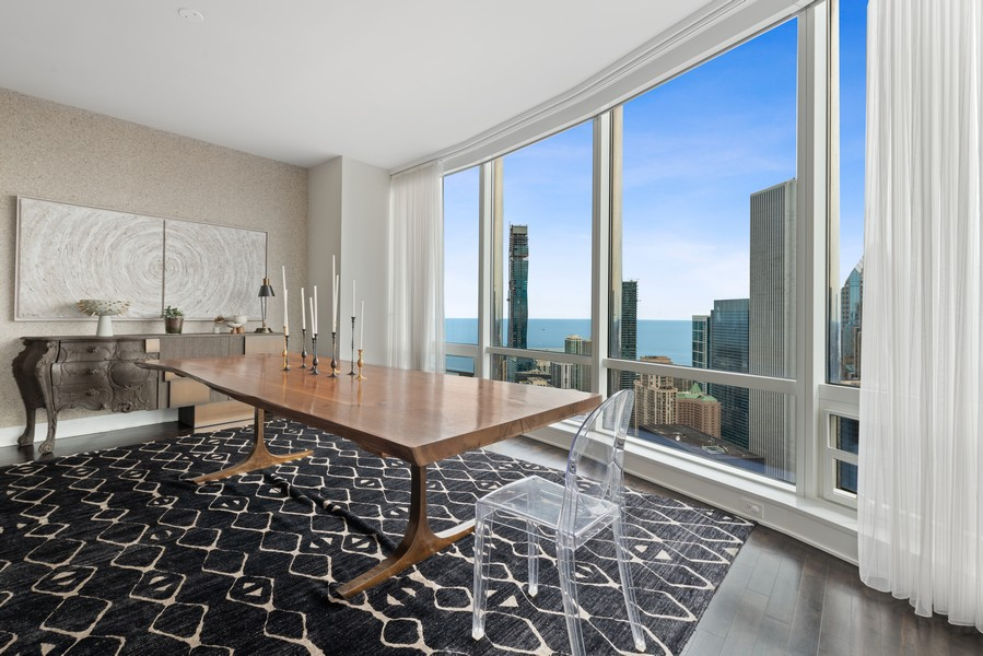 Real Estate Photography - 401 N Wabash, Unit 53E, Chicago, IL, 60611 - Dining Room