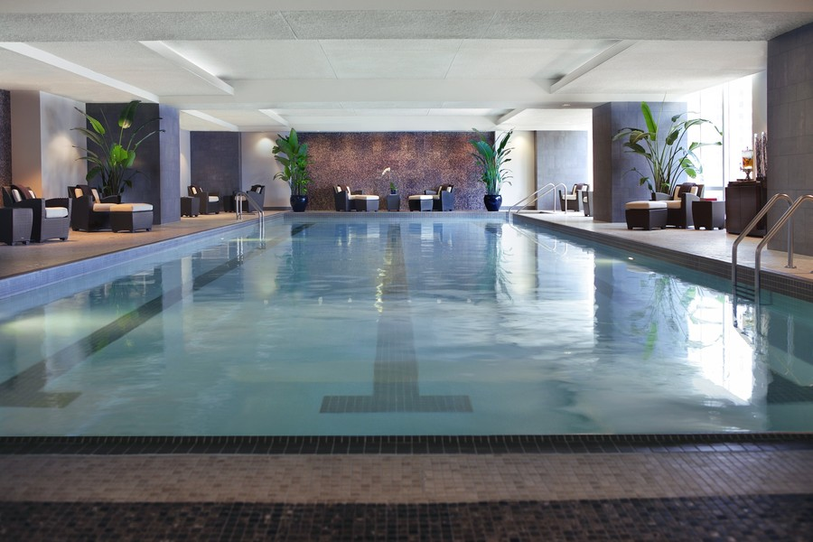 Real Estate Photography - 401 N Wabash, Unit 53E, Chicago, IL, 60611 - Indoor Pool