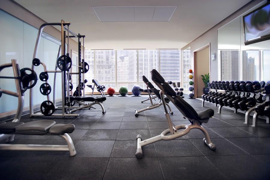 Real Estate Photography - 401 N Wabash, Unit 53E, Chicago, IL, 60611 - Exercise Center