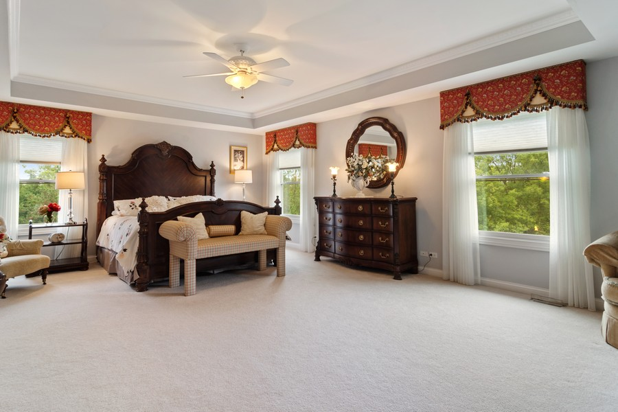 Real Estate Photography - 73 Covered Bridge Rd, South Barrington, IL, 60010 - Master Bedroom