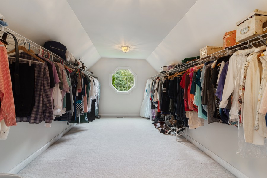 Real Estate Photography - 73 Covered Bridge Rd, South Barrington, IL, 60010 - Master Bedroom Closet