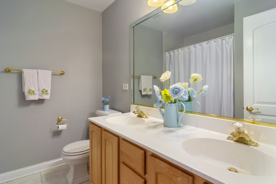 Real Estate Photography - 73 Covered Bridge Rd, South Barrington, IL, 60010 - 2nd Bathroom