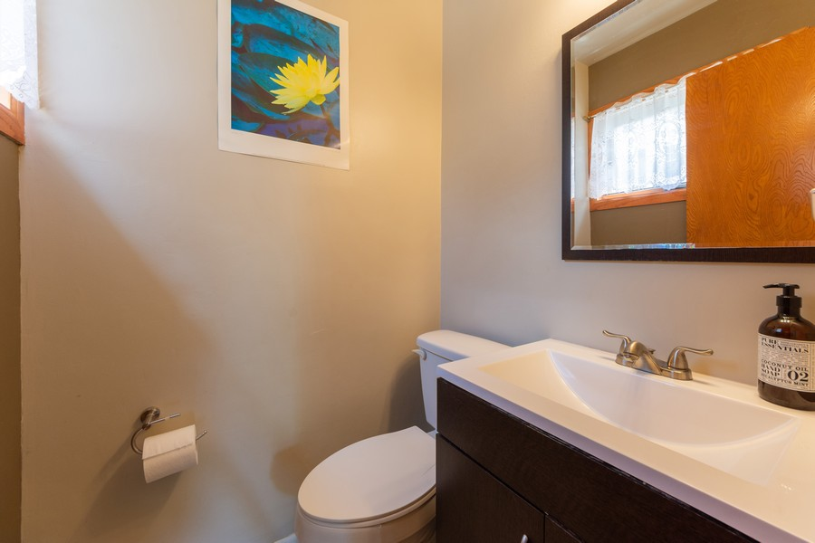 Real Estate Photography - 403 North Plum Grove Rd, Palatine, IL, 60067 - Powder Room