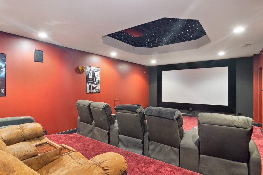 Real Estate Photography - 46 Inverway Rd, Inverness, IL, 60067 - Theater