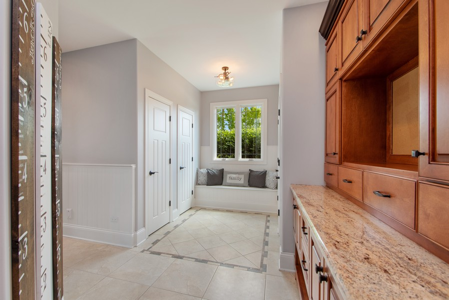 Real Estate Photography - 11828 Brooke Ct, Frankfort, IL, 60423 - Mudroom with Four Closets