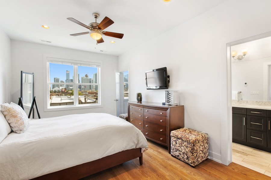 Real Estate Photography - 457 North Aberdeen St, 4S, Chicago, IL, 60642 - Master Bedroom