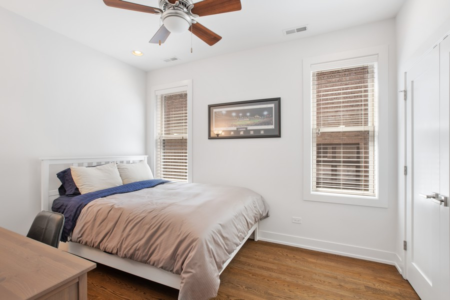 Real Estate Photography - 457 North Aberdeen St, 4S, Chicago, IL, 60642 - Bedroom